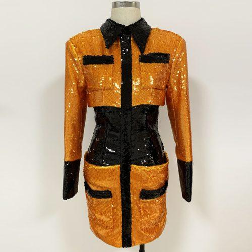 Sequins-Blazer-Dress-K706-3