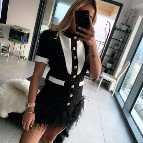 Short-Sleeve-Fringed-Dress-K652-2