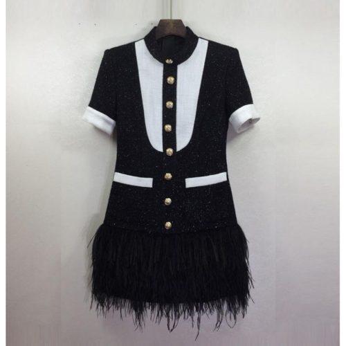 Short-Sleeve-Fringed-Dress-K652-3