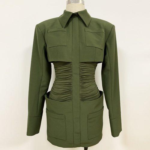 Waist-Folding-Blazer-Mini-Dress-K695-4