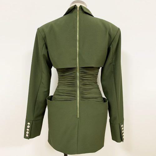 Waist-Folding-Blazer-Mini-Dress-K695-5