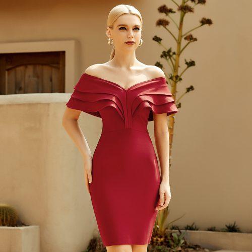 Flounce-Off-Shoulder-Bandage-Dress-K965-1