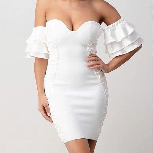 Flounced-Off-Shoulder-Bandage-Dress-K95331