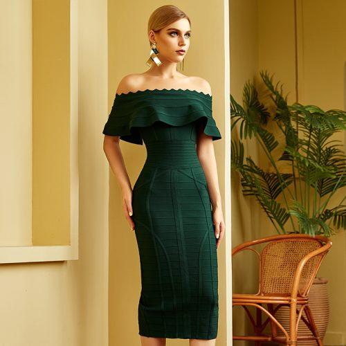Flouncing-Off-Shoulder-Bandage-Dress-K840-2