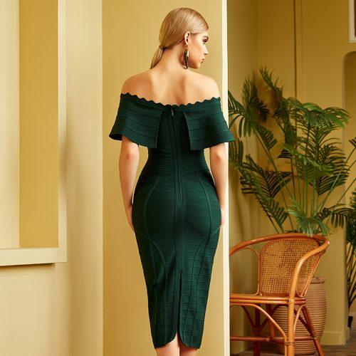 Flouncing-Off-Shoulder-Bandage-Dress-K840-5