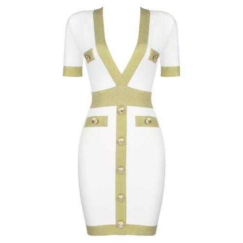 Golden-Silk-Short-Sleeve-Bandage-Dress-K821-32