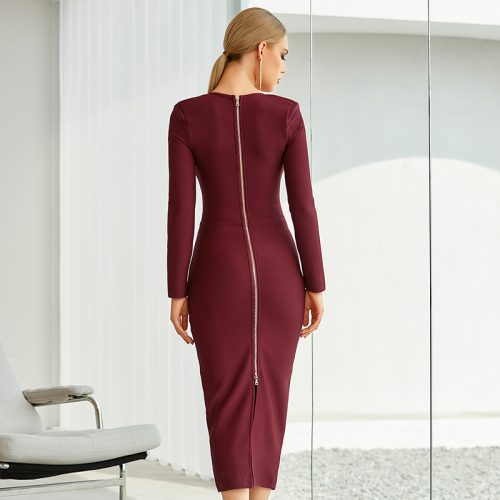Graceful-Long-Sleeve-Bandage-Dress-K842-10