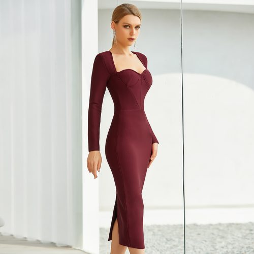 Graceful-Long-Sleeve-Bandage-Dress-K842-12