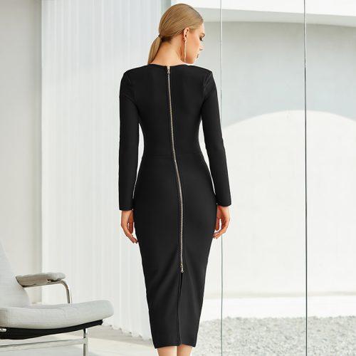Graceful-Long-Sleeve-Bandage-Dress-K842-4