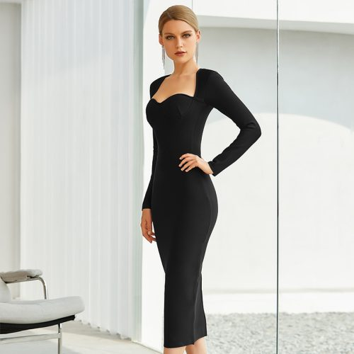 Graceful-Long-Sleeve-Bandage-Dress-K842-5