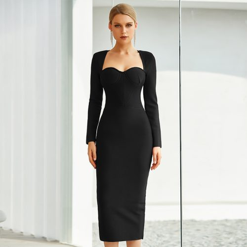 Graceful-Long-Sleeve-Bandage-Dress-K842-7