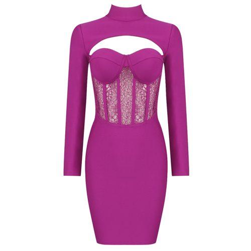 Hollow-Out-Lace-Gauze-Bandage-Dress-K82239