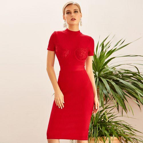 Lace-Short-Sleeve-Knit-Skirt-K922-10