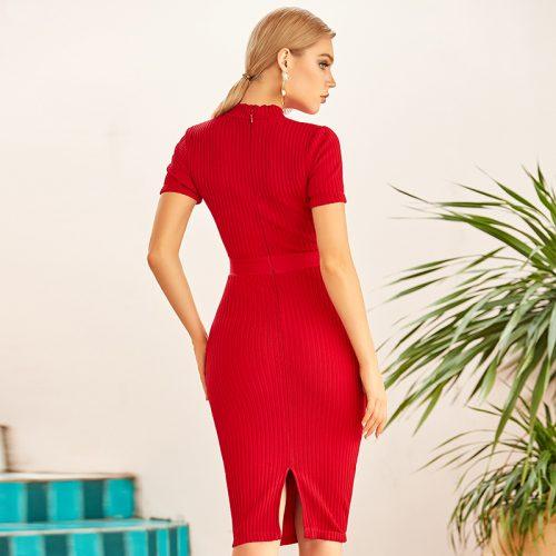 Lace-Short-Sleeve-Knit-Skirt-K922-6