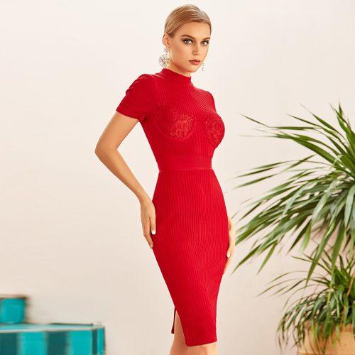 Lace-Short-Sleeve-Knit-Skirt-K922-8