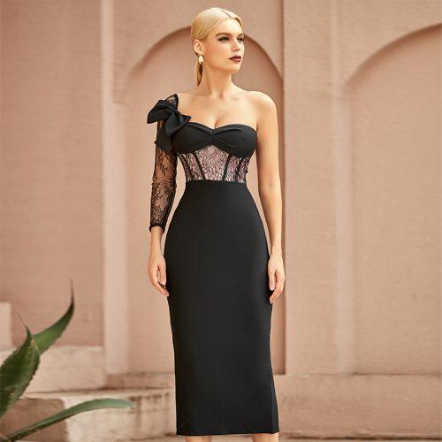 Lace-Sleeve-Bandage-Dress-K968-1