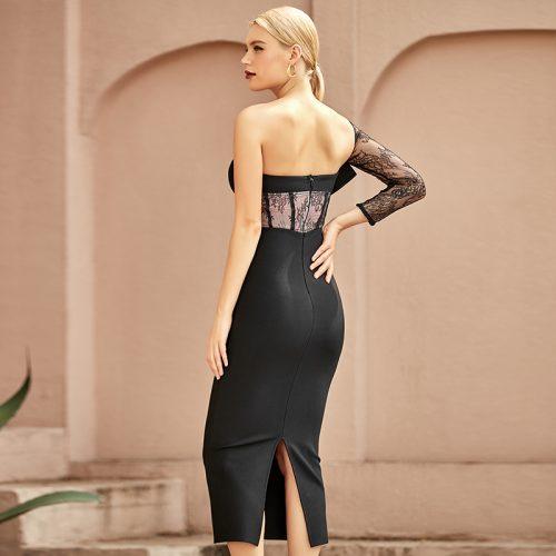 Lace-Sleeve-Bandage-Dress-K968-2