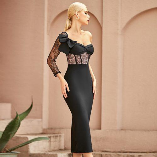 Lace-Sleeve-Bandage-Dress-K968-4