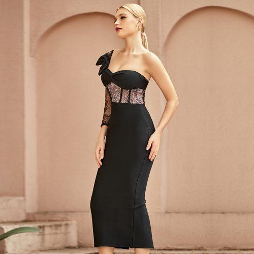 Lace-Sleeve-Bandage-Dress-K968-5