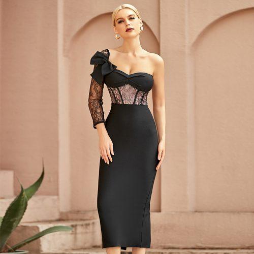 Lace-Sleeve-Bandage-Dress-K968-6