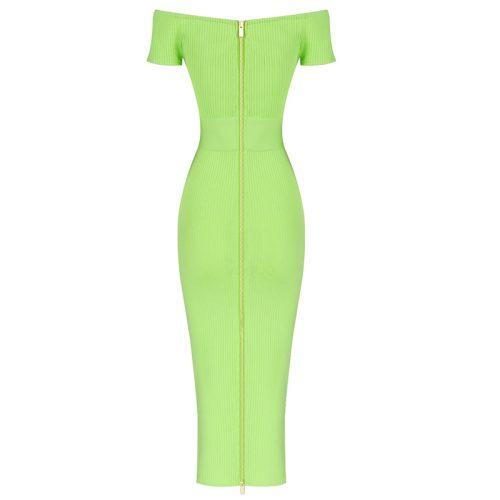 Light-Green-Bandage-Dress-K1007-14