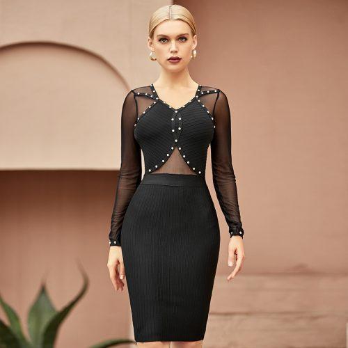 Mesh-Beaded-Bandage-Dress-K966-5