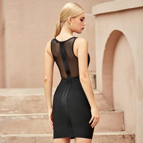 Mesh-Beaded-Sleeveless-Bandage-Dress-K967-3