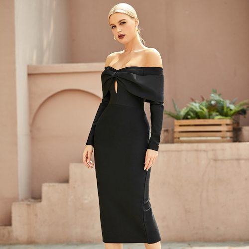 Off-Shoulder-Bandage-Dress-K9693