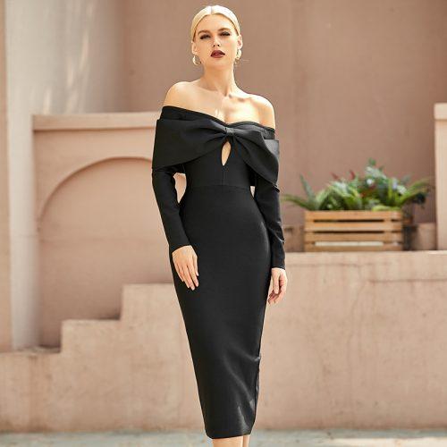 Off-Shoulder-Bandage-Dress-K9694