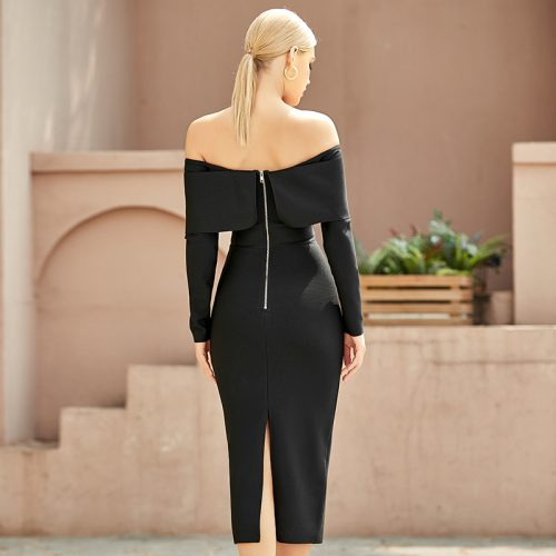 Off-Shoulder-Bandage-Dress-K9696