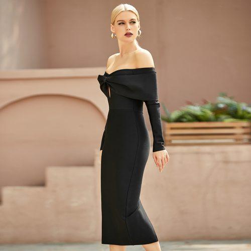 Off-Shoulder-Bandage-Dress-K9697