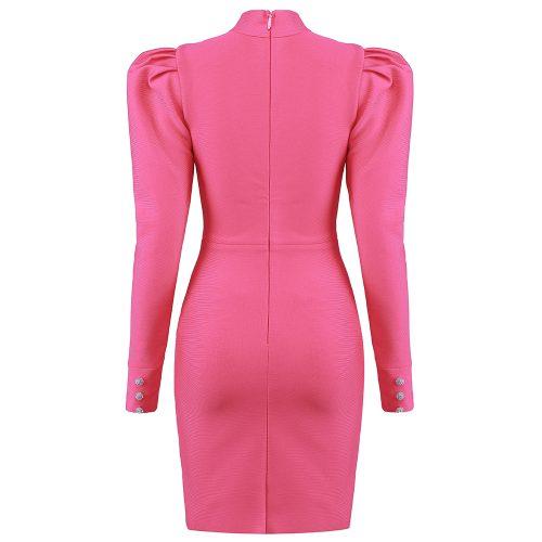 Puff-Sleeve-Bandage-Dress-K823-5