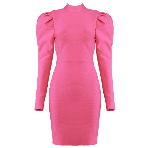 Puff-Sleeve-Bandage-Dress-K823-6