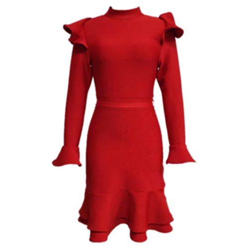 Red-Flounce-Bandage-Dress-K973-1_副本