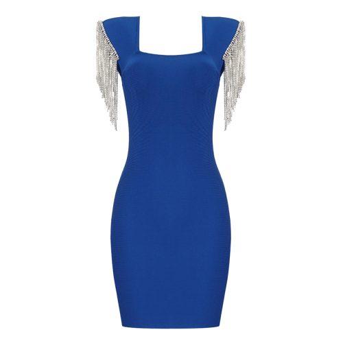 Rhinestone-Tassel-Sleeve-Bandage-Dress-K1006-1