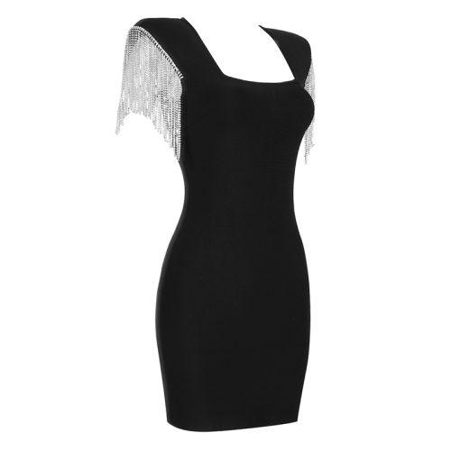 Rhinestone-Tassel-Sleeve-Bandage-Dress-K1006-19