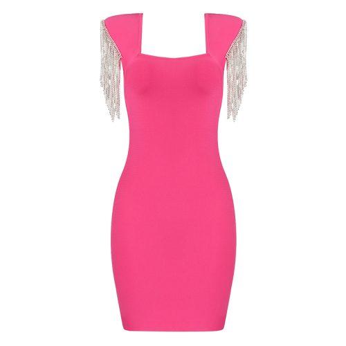 Rhinestone-Tassel-Sleeve-Bandage-Dress-K1006-30