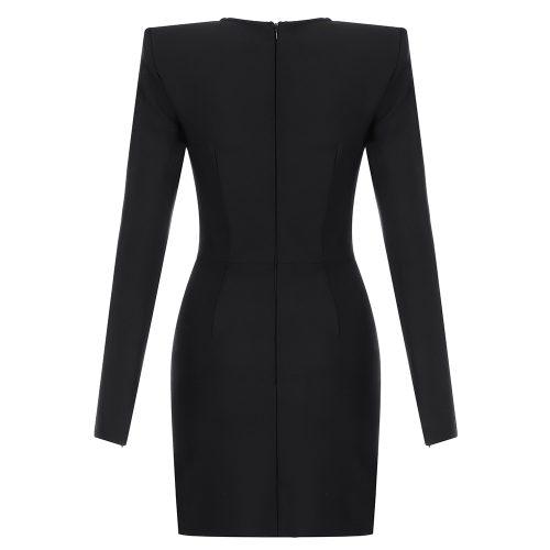 Sexy-Black-Long-Sleeve-Bandage-Dress-K835-8