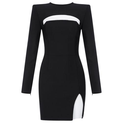 Sexy-Black-Long-Sleeve-Bandage-Dress-K835-9