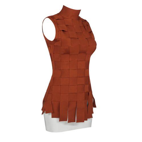 Stripe-Knitted-Bandage-Dress-K812-5