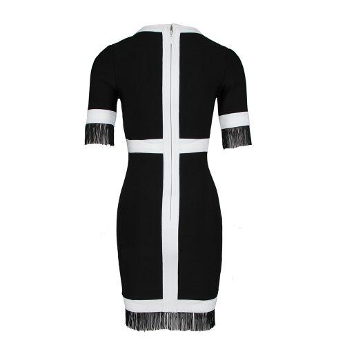 White-Stripe-Short-Sleeve-Black-Bandage-Dress-K956-15_副本00