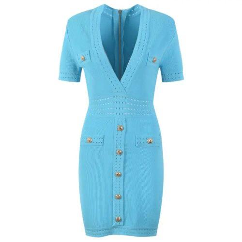 Deep-V-Knit-Dress-K1027-4_副本