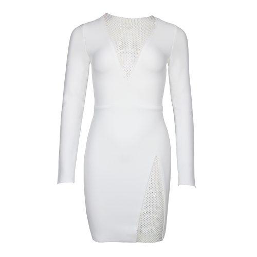 Long-Sleeve-Deep-V-Bandage-Dress-K1018-1