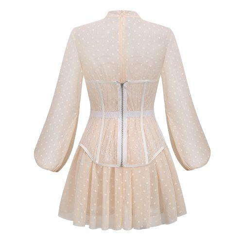 Long-Sleeve-Mesh-Dress-﹠-Lace-Waist-Sealing-Set-K1053-20