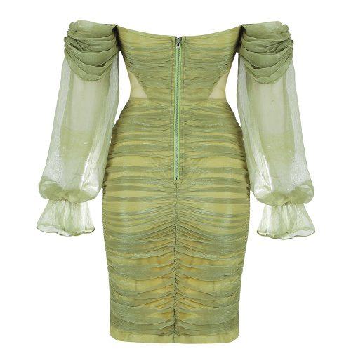 Off-Shoulder-Mesh-Ruched-Bandage-Dress-K1040-11