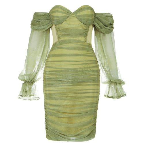Off-Shoulder-Mesh-Ruched-Bandage-Dress-K1040-13