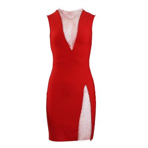 Sleeveless-Deep-V-Bandage-Dress-K1017-3