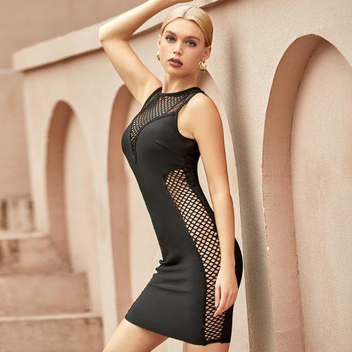 Deep-V-Hollow-Out-Bandage-Dress-K1066-3