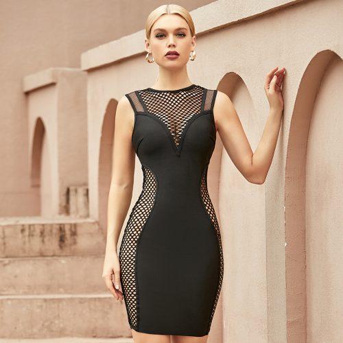Deep-V-Hollow-Out-Bandage-Dress-K1066-6