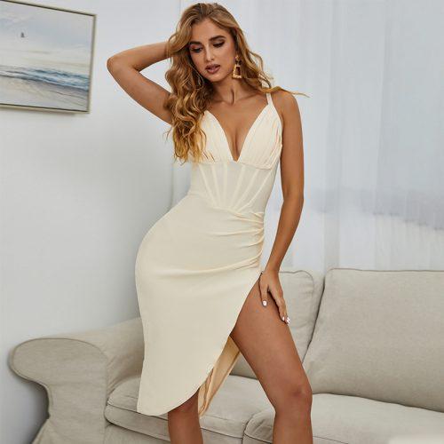 Deep-V-Strap-Bandage-Dress-K1081-4